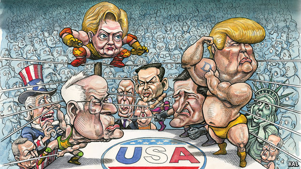 The brawl begins for the 2016 Presidential race. Image sourced from The Economist.