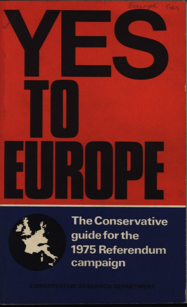 [Yes to Europe pamphlet, CCO 508/12/2]