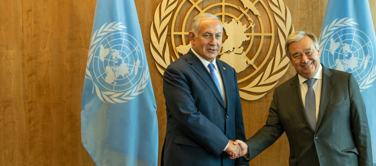 Secretary-General Antonio Guterres meets Prime Minister of Israel Benjamin Netanyahu at UN Headquarters in 2018